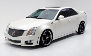 Picture white, Cadillac, 2009, Cadillac CTS