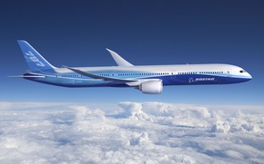 Wallpaper aviation, aircraft, 787, clouds, the sky, boeing, dreamline