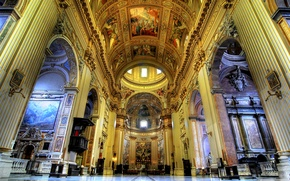 Picture Cathedral, arch, mural, religion, painting