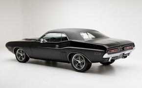 Picture Challenger, Dodge, Muscle, 1971, Dodge, Challenger, Black, Black