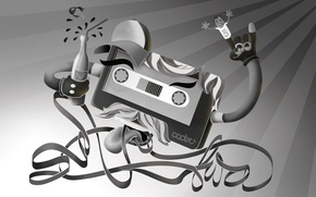 Picture cassette, black and white, tape