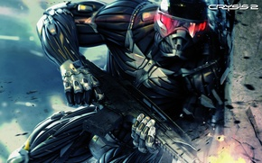 Picture weapons, fighter, nanosuit, CRYSIS 2