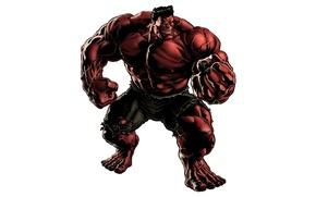 Picture red, fist, rage, Red Hulk