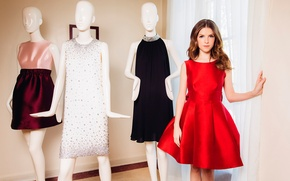 Picture home, red dress, outfits, mannequins, Anna Kendrick