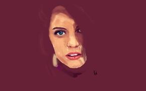 Picture eyes, girl, face, portrait, minimalism, purple, minimalism, author, purple, portrait, kanni, kanni.pro
