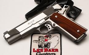 Picture gun, weapons, holster, custom, 45acp, Les Baer