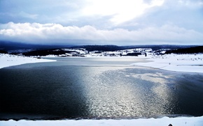 Wallpaper ice, sea, lake