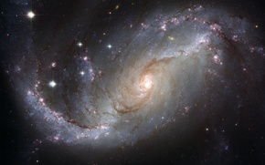 Picture galaxy, constellation, Gold Fish, NGC 1672