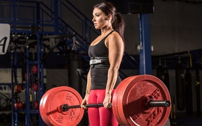 Picture deadlift, powerlifting, female