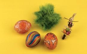 Picture eggs, rabbit, Easter, Pysanka