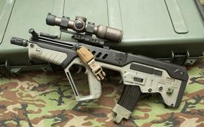 "Picture weapons, machine, box, sight, rifle, assault, ""Tavor"", CTAR-21"
