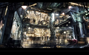 Picture street, square enix, cyberpunk, concept art, Ubisoft Montreal, Deus Ex: Universe