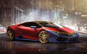 Picture auto, Wonder Woman, Superheroes, auto, superhero, Marvel, Marvel, Lamborghini Huracan