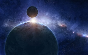 Picture blue, cosmos, planet, sci fi