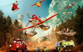 Picture When others fly out, heroes fly in, Planes:Fire and water, Planes:Fire and Rescue