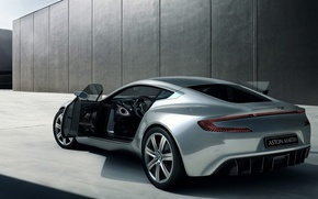 Wallpaper silver, Aston Martin, ONE77