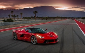 Wallpaper car, auto, Ferrari, supercar, red, Ferrari, track, LaFerrari