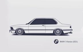 Picture BMW, E21, Minimalistic, SrCky Design, 3-Series