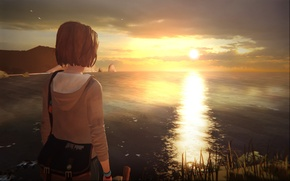 Picture Sunset, Sea, Lighthouse, Max, Life is Strange, It's A Strange Life