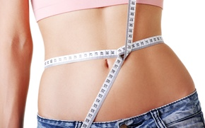 Picture belly, healthy food, measurements, diets, losing weight