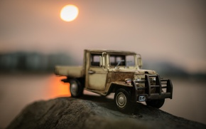 Picture macro, stream, model, toy, truck, shooting, machine, pickup, photo, photographer, model, Jamie Frith