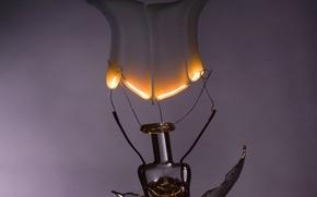 Wallpaper smoke, Light bulb, electricity