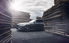 Picture grey, bmw, BMW, Blik, f10, matte grey