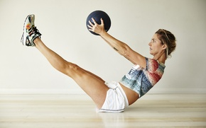 Picture ball, workout, fitness, abs