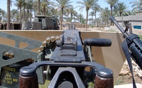 Picture weapons, view, face, machine gun, system, M2 Browning, Browning, easel, first, fixed, the armored vehicle., …