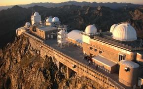 Picture France, Mountains, Observatory, Pyrenees, Pic du midi de Bigorre, Astronomy