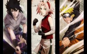 Picture look, blood, katana, hands, gloves, headband, Sasuke, Naruto, Sakura, friends, fist, ninja, kunai, ninja, Naruto …
