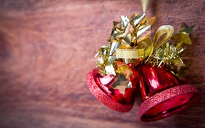 Picture Christmas, bow, bells, Christmas, New Year, decoration, bell