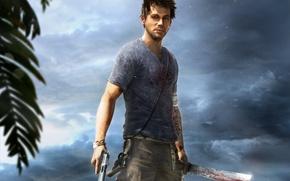 Picture the sky, clouds, gun, weapons, blood, tattoo, jungle, rocket launcher, Ubisoft, machete, Far Cry 3, …