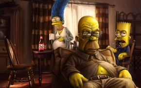 Picture Breaking Bad, marge, The Simpsons, Homer, Bart