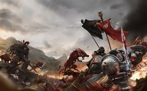 Picture chaos, space marines, shield, grey knights, daemon, warhammer 40K, daemonette, imperium, banner, black legion, power ...