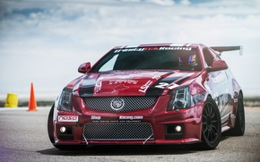 Picture Cadillac, Red, CTS-V, Racing