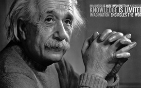 Wallpaper the idea, quote, Einstein