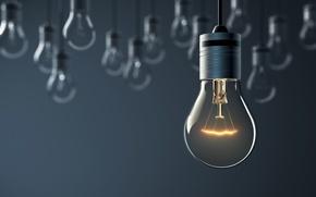 Wallpaper light, lighting, artificial, hanging light bulbs
