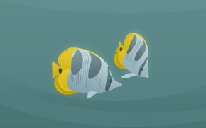 Picture minimalism, vector, Fish