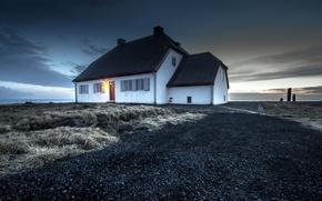 Picture landscape, house, Iceland, Seltjarnarnes, Gullbringusysla