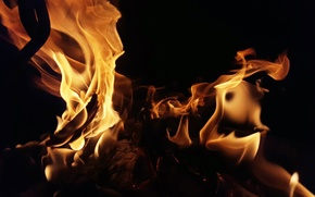 Wallpaper background, fire, flame
