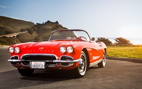 Picture Corvette, classic, chevrolet, Chevy, 1962, California Dreaming