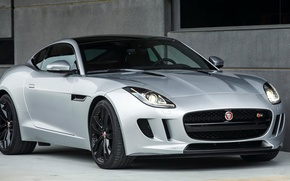 Picture silver, jaguar, coupe, f-type