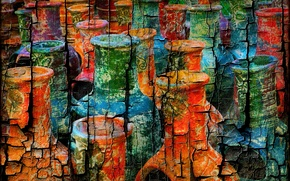 Picture color, figure, Painted Vases