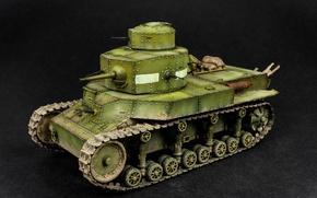 Picture model, toy, tank, Soviet, average, T-24