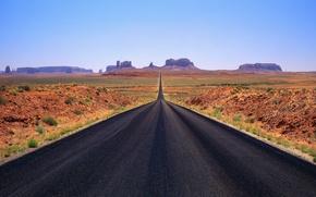 Wallpaper road, horizon, mountains
