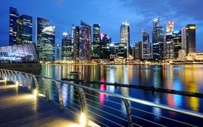 Picture lights, the evening, Singapore, twilight