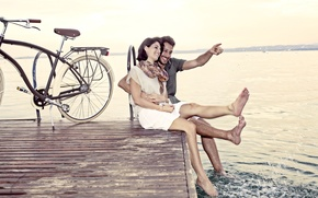 Picture love, bike, pair, pierce, relationship