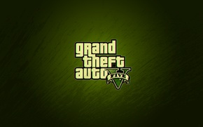 Picture the inscription, minimalism, texture, logo, dirt, green, grand theft auto V