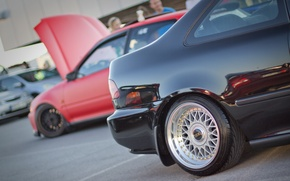 Picture sport, Honda, black, photo, tuning, low, BBS, styling, MMaglica photo, MMaglica, car styling